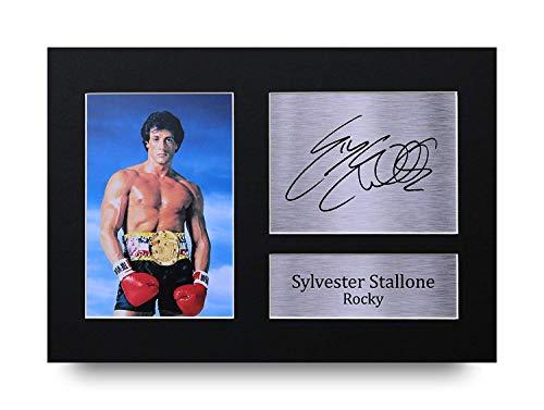 HWC Trading Sylvester Stallone A4 Ungerahmt Signiert Gedruckt Autogramme Bild Druck-Fotoanzeige Geschenk Für Rocky Filmfans