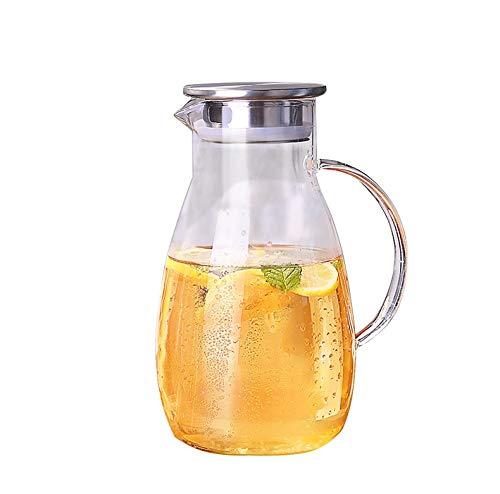 Ketel met hoge borosilicaatglas-waterkoker waterketel met deksel waterkoker-huishoud-grote capaciteitsschaal voor melk koelen wit open ijsdranksap af (kleur: 2600 ml, maat: FD)