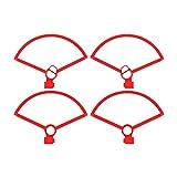 Luz De Advertencia De La Puerta del Coche Protector De Hélice para Mini Dron Liberación Rápida Anillo Protector Anticolisión Luz Protector De Hélice Accesorio-Rojo