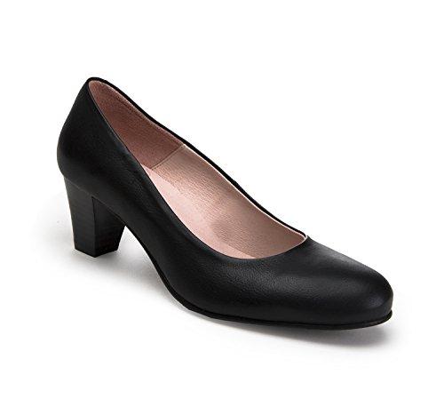 zeddea Bienvenida Negro - Zapatos de azafata cómodos para Mujer -Talla 41