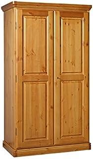 Arredamenti Rustici Armoire à 2 Portes en pin Massif-Couleur Miel