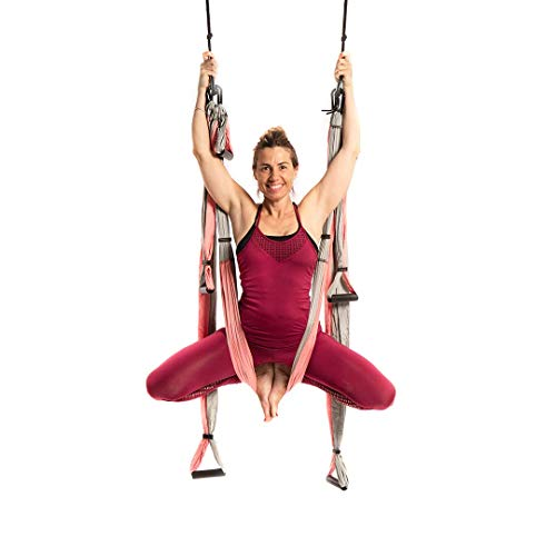 Best Prices! YOGABODY Yoga Trapeze (Official) with DVD, Baby Pink - Yoga Inversion Swing (Renewed)