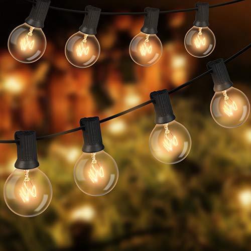 Lichterkette Außen, Lichterkette Glühbirnen G40 11.7M 35er Glühbirnen Lichterkette Außen Wasserdicht Garten Lichterketten Deko Licht mit Stecker für Garten, Zimmer, Hochzeiten