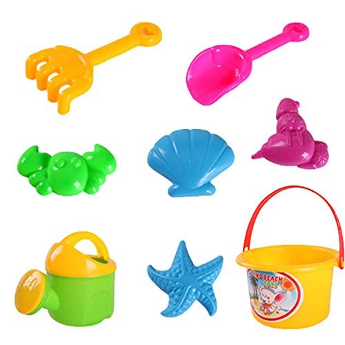 Xuanshengjia Strand Toys Zand Speelgoed Set, 8 STKS Zand Emmer en Schoppen Set met Kant Emmer en Schop Kit, Kinderen…
