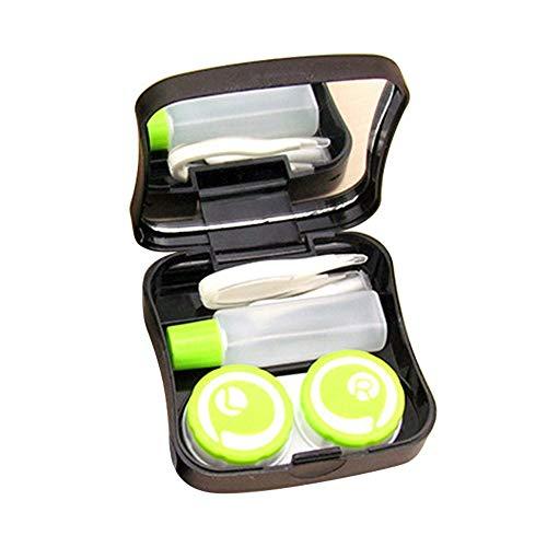 Shuxinmd Leichtes Brillenzubehör Tragbarer Kontaktlinsenkoffer mit Spiegel Vielzahl von Typen