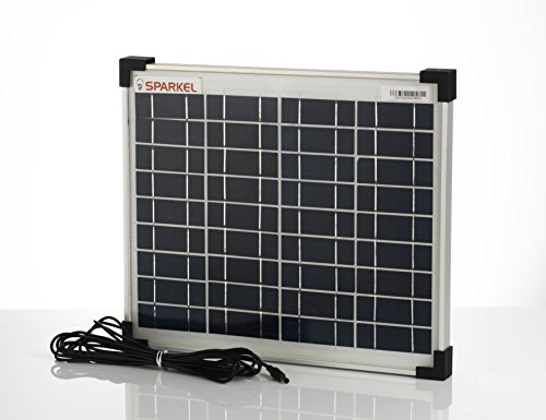 SPARKEL 10W MNRE Approved Robust Aluminium Body PVC Corner Protector Polycrystalline Solar Panel with 3 m Wire and Reverse Diode,...