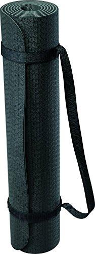 Deuser Unisex– Erwachsene Yoga Matte TPE, schwarz/grau, One Size