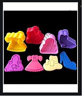 S.Han 4 Pc Lady Shoes Purse Sandal Plastic Plunger Cutter Fondant Geumpaste Mould Sugarcraft Cake Decorating Tools Baking