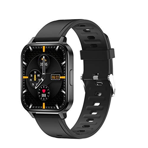 ZYDZ por Q18 Men's Smart Watch Watch Impermeable 1.7 Pulgadas Táctil Multi-Dial Multi-Dial Ultra-Thin Bluetooth Sports Health Tracker para iOS Android,B