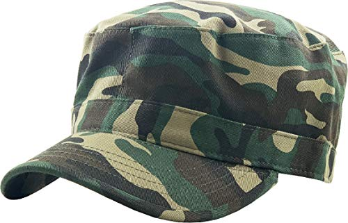 KBK-1464 CAM L Cadet Army Cap Basic Everyday Military Style Hat