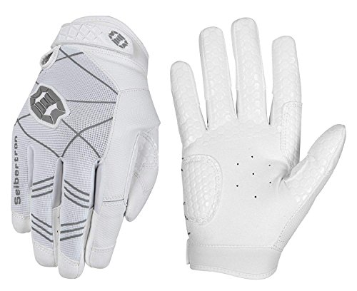 Seibertron B-A-R PRO 2.0 Signature Baseball/Softball Batting Gloves Super Grip Finger Fit for Adult White M
