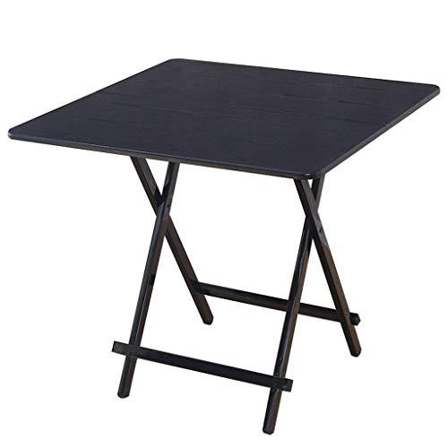 QGQ Mesa Plegable Pequeña, Mesa de Comedor Mesa Pequeña Simple Hogar Pequeño Espacio Portátil para 2/4 Personas,70 × 70 × 75Cm