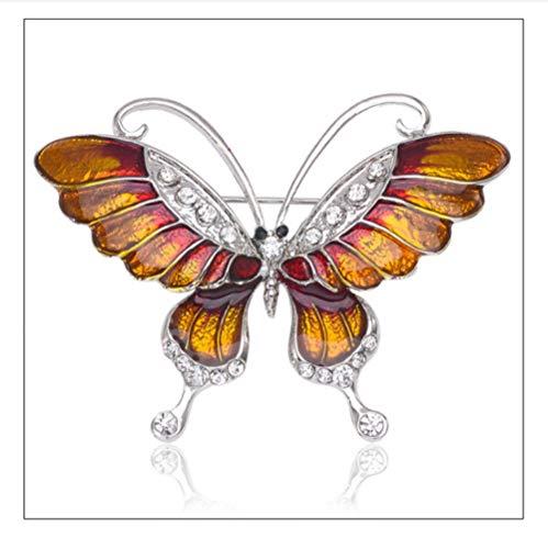 ZorYer Broches Broche de Mariposa Broches de aleación de Diamantes de imitación...