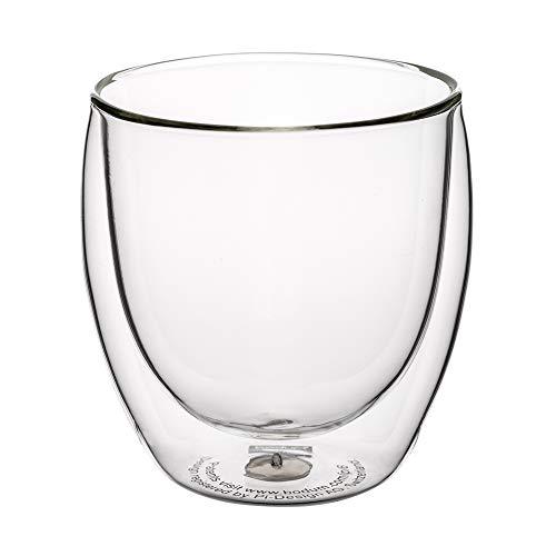 [ ボダム ] bodum グラス パヴィーナ ダブルウォールグラス 250mL 6個セット 4558-10-12 PAVINA 二重構造 耐熱 保温 Double Wall Glass [並行輸入品]