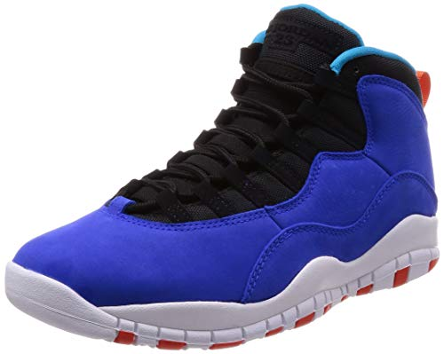 Nike Herren Air Jordan 10 Retro Fitnessschuhe, Mehrfarbig (Racer Blue/Team Orange/Black 408), 48.5 EU