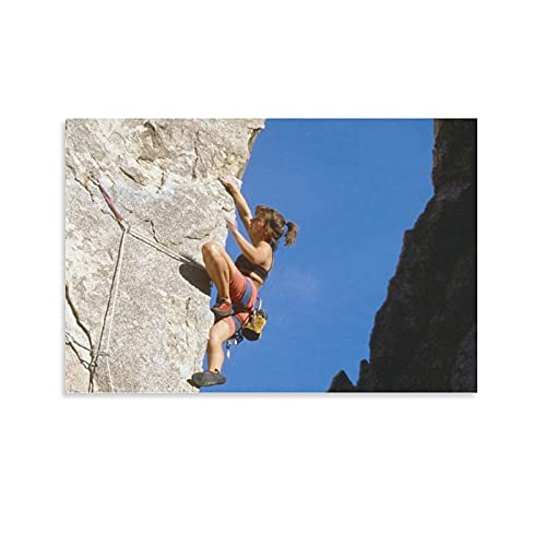 YUAN BEI POSTER Girl Rock Climbing Classic Poster Print Canvas Painting Poster Wall Art Wall Decor Unframe-style18 24x36inch(60x90cm)