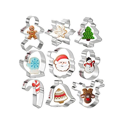 Set 8 cortadores galletas navideñas niños - Estrella
