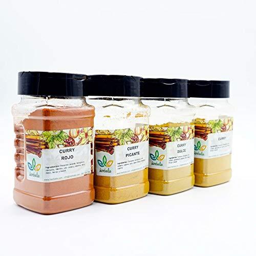 Pack CURRY LOVERS Hierbalia | 4 botes con diferentes tipos de curry hechos con especias naturales 100%