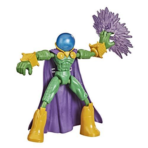 Figura de acción de Mysterio de Marvel Spider-Man Bend and Flex, Juguete Flexible de 15cm, Incluye Accesorio, a Partir de 4 años