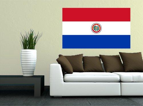 Kiwistar Wandtattoo Sticker Fahne Flagge Aufkleber Paraguay 120 x 72cm
