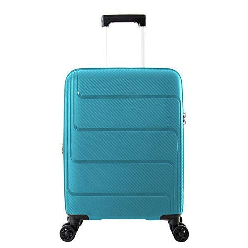 Adlereyire Trolley Suitcase Lightweight Durable Carry On Cabin Hand Luggage Set, Travel Bag with 4 Wheels (Color : Blue, Size : 44 * 25 * 59cm)