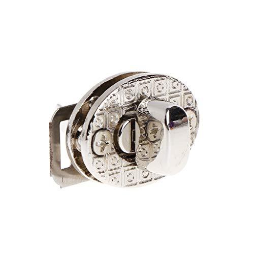 PHILSP Twist Lock Egg Shape Bag Twist Lock 4 Color Small Oval Handbags Case Alloy Catch Buckle DIY Silver