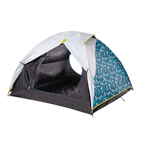 Carpa Doble Campamento para Acampar Campo Carpa pequeña A Prueba de Viento Impermeable a Prueba de Lluvia Anti-UV Hilo de Malla Transpirable Actividad para Actividades al Aire Libre Tienda de campaña