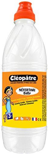 Cleopatre - PGBB1-1 - Pintura Guache Nefertari BaBy - Frasco de 1 litro - Blanco