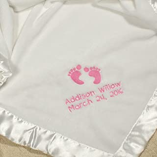 Best baby girl embroidered blanket Reviews