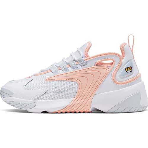 Nike Zoom 2K, Sneaker Mujer, Blanco/Aura-Washed Coral, 41 EU