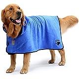 LEA Toalla de Microfibra Super Perro Perro Mascota Absorbente Albornoz Easy Wear Absorbente de la Humedad Ultra Suave Albornoz for Diferentes tamaños de Perros (Color : Blue, Size : XS)