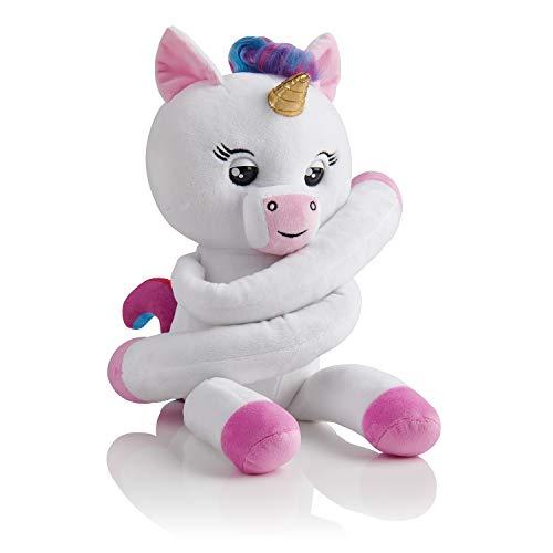 Wow Wee Fingerling Hugs - Peluche Interactivo Unicornio, Color Blanco