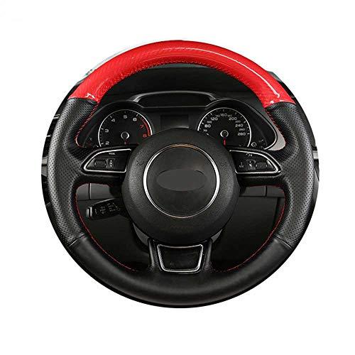 ZpovLE Cubierta Negra para Volante de Coche DIY, Apta para Audi TT TTS (8J) 2006-2014 A3 S3 (8P) Sportback 2008-2012 R8 (42)