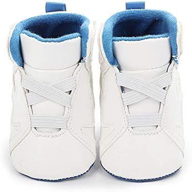 YWY Baby Boys Girls PU Sneakers Anti-Slip Prewalkers First Walking Shoes Walkers