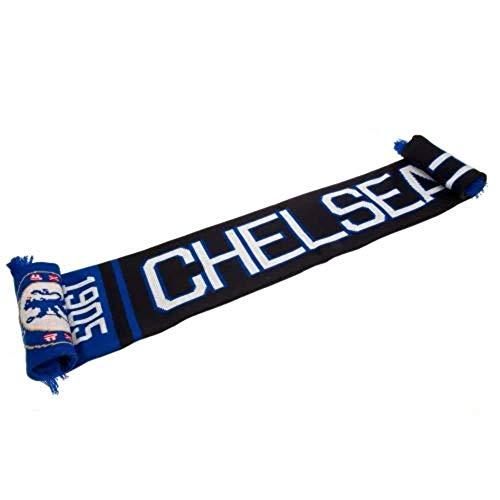 Official CHELSEA FC blauen und schwarzen Schal