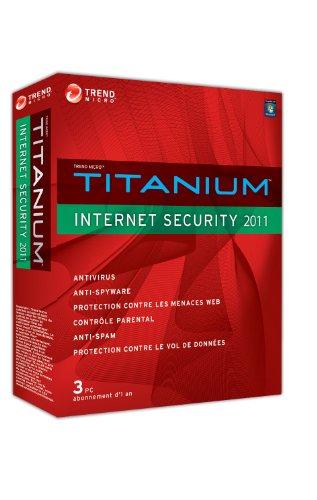 Trend micro titanium internet security 2011 - 1 an / 3 postes