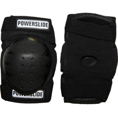 Powerslide Inlineskate Knieschützer Black Skateboards Kneepads Protektor, Grösse:S
