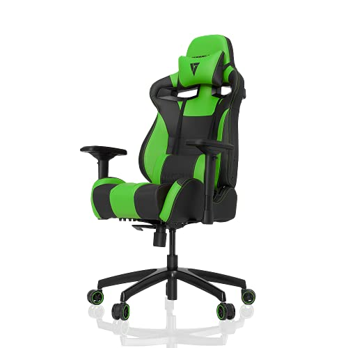 VERTAGEAR Racing Seat Gaming Chair, S-Line Medium SL4000 BIFMA Cert, Black/Green
