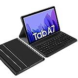 IVSO Español Ñ Teclado Compatible con Samsung Galaxy Tab A7, para Samsung Galaxy Tab A7 2020 Teclado, Funda con Wireless Teclado con Ñ para Samsung Galaxy Tab A7 T505/T500/T507 10.4 2020, Negro