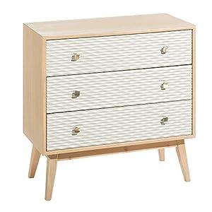 iHouse Vantage Style - Mueble Organizador de 2 cajones para Dormitorio, Cuarto de bebé, Armario, Entrada, Color marrón: Amazon.es: Hogar