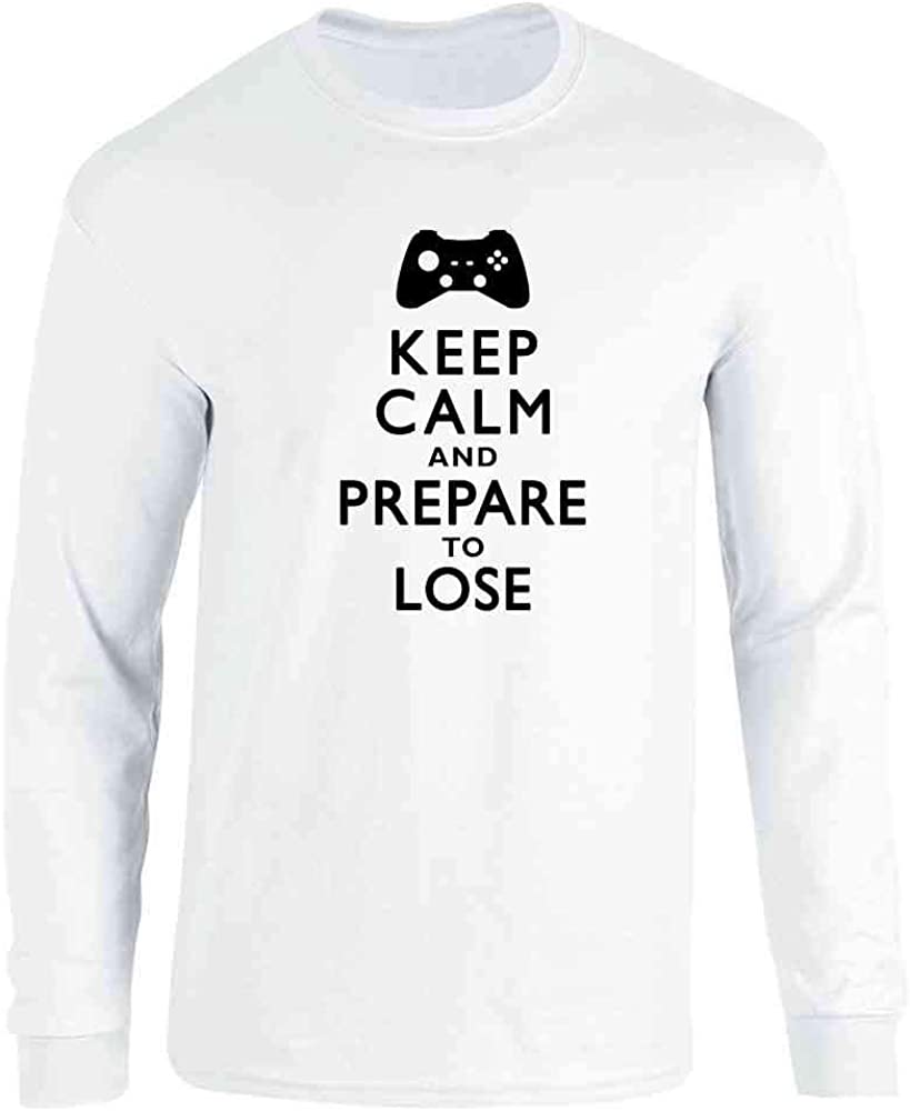 Keep Calm and Prepare to Lose - XB Gamer White 3XL Full Long Sleeve Tee T-Shirt