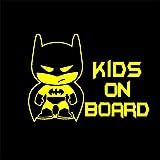 Batman pegatina Cross Border Cartoon Batman Niños a bordo Pegatinas de coche Pegatinas de advertencia de seguridad para bebés Pegatinas de coche