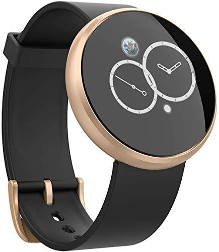 Relojes inteligentes para hombre y mujer 1.04 pulgadas pantalla táctil completa reloj deportivo fitness tracker con monitor de sueño IP68 pulsera impermeable - oro