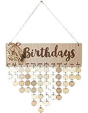 Bestoyard Verjaardagskalender, herinnering, eeuwige houten kalender, doe-het-zelf geschenk, decoratie voor thuis, feest, decoratie