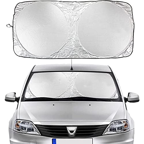 Auto Frontal Parabrisas Parasol Protector Coche Parasoles para Dacia Duster 4X2 4X4 1.0 Tce Turbo GPL Prestige, Resistente a Los Rayos UV y Luz de Sol, Coche Delantera Parasol Parabrisas Protector