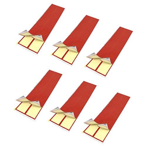 FLAMEER 6 x Pfeilwraps Arrowwraps - rot