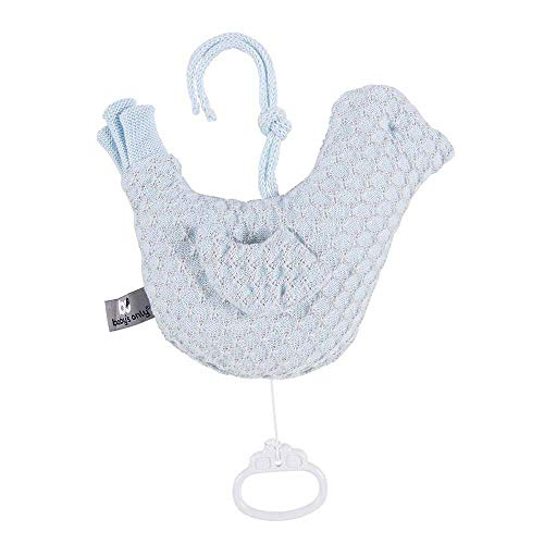 BO Baby's Only - Spieluhr Vogel Sun - Puderblau/Silbergrau - 50% Baumwolle/50% Polyacryl
