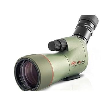 Kowa Prominar Series TSN-553 Compact 15-45x55 Fluorite Crystal Spotting Scope with Angled Eyepiece, 14-12.5mm Eye Relief, 3m (9.84') Min Focus Distance, Waterproof, Green