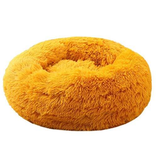 N-B Pet Bed, Round Cat and Dog Winter Warm Sleeping Bag Plush Soft Pet Bed Comfort Bed Pet Nest Round Depth Pet Nest