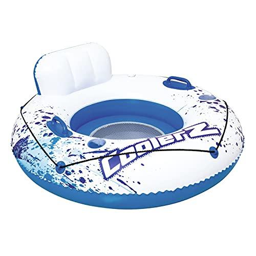 Esenlong Flotador de piscina, flotador inflable para piscina, flotador de agua resistente para adultos con reposacabezas y soporte de taza